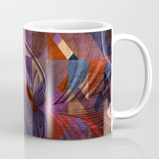 Triangle and Fractal Design Mug