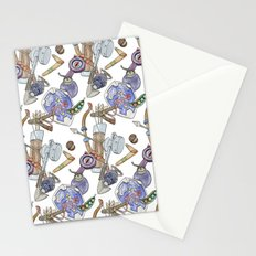Ocarina Patterns Stationery Cards