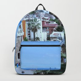 Barcelona View from Park Guell Costa Brava Backpack