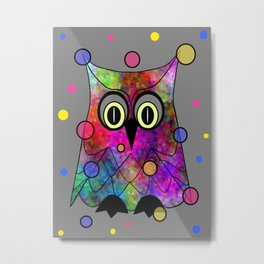 Psychedelic Owl Metal Print