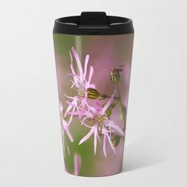 Pink Wildflowers Travel Mug