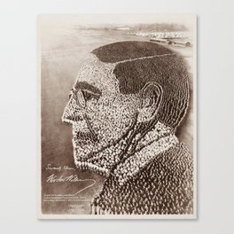 Woodrow Wilson Human Formation - Camp Sherman - 1918 Canvas Print