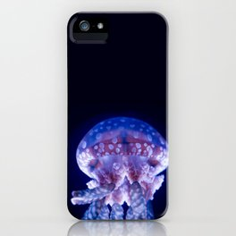 Glowing Jellyfish - Macrophotography iPhone Case