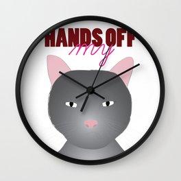 hands off my Wall Clock
