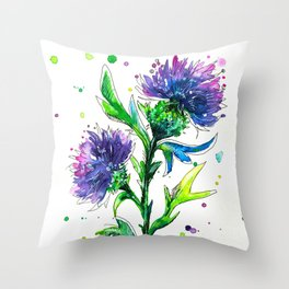 Thistle 2 Throw Pillow