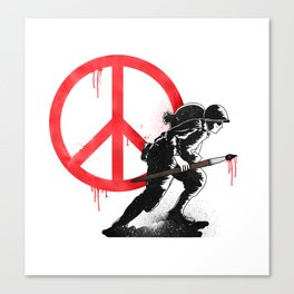 Art is a weapon! Canvas Print