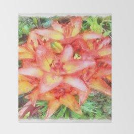 Helen's Lilies Watercolor Throw Blanket