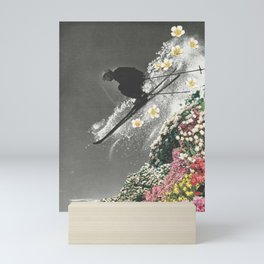 Spring Skiing Mini Art Print