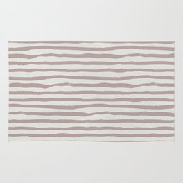 Simply Shibori Stripes Clay Pink on Lunar Gray Rug