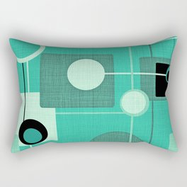 Orbs and Squares (aqua) Rectangular Pillow