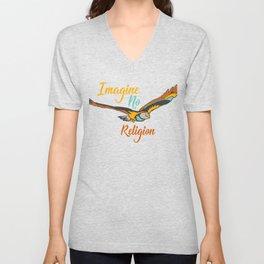 Imagine No Religion Gift Unisex V-Neck