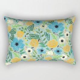 Luova - blue Rectangular Pillow
