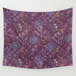 Scratchy Floral Wall Tapestry