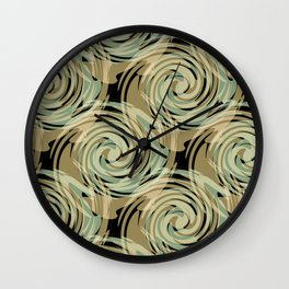 Abstract pattern , spiral. Wall Clock