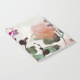 floral abstract summer autumn Notebook
