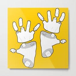Puzzle Hands Metal Print