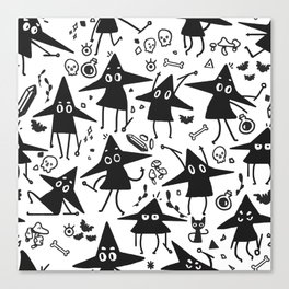 Magical Little Witches Canvas Print