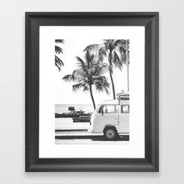 retro summer Framed Art Print