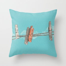 Boho Clothespin Throw Pillow