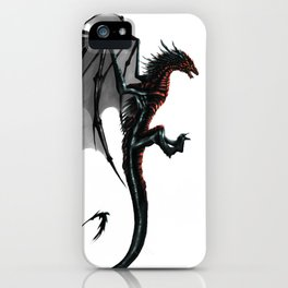 black and red Dragon iPhone Case