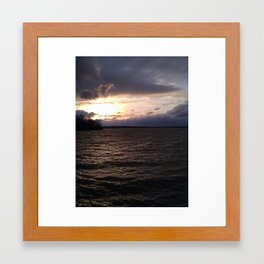 Windy Water Sunset Framed Art Print
