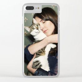 Meow means Woof Clear iPhone Case