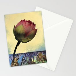Lotus Budding at the Pavilion Stationery Cards