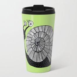 Cartoon Snail With Spiral Eyes Travel Mug