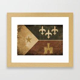 Acadian Flag Framed Art Print