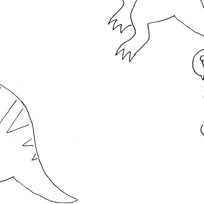 dinossaur eating pizza pattern Leggings