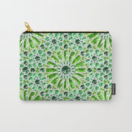 Geometric gemstones (emerald) Carry-All Pouch