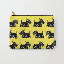 Scottie Dogs Yellow and Black Pattern Carry-All Pouch