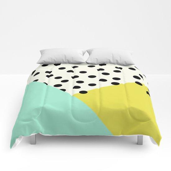 Mod dots and angles  Comforters