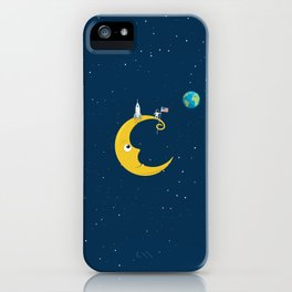 Man on the Moon iPhone Case