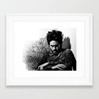 jared leto Framed Art Prints featuring Jared Leto by Katerina Gold