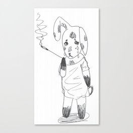 Bereft Bunny Canvas Print