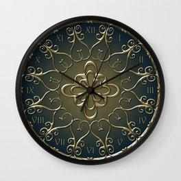 Golden Nemo Pattern Wall Clock