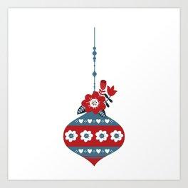 Scandinavian Christmas Ball 02 Art Print