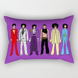 Outfits of Purple Fashion on Purple Rectangular Pillow
