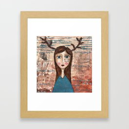 Coco's Closet- She is happy being She Framed Art Print