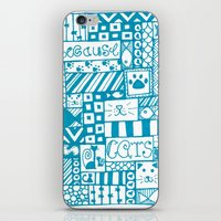 because cats iPhone & iPod Skins featuring Because Cats by Lizzy East