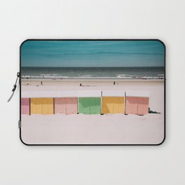 Beach Cabins North Sea Laptop Sleeve