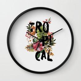 Tropical I Wall Clock