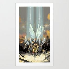 Skyward Angels Art Print