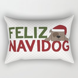 Feliz Navidog Rectangular Pillow