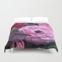 coasters Duvet Covers featuring The Softest Pink by H. N.