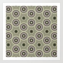 Fractal Cogs n Wheels in CMR03 Art Print