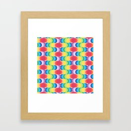 Rainbow Dragon Scales 2 Framed Art Print