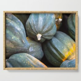 Pile of Hubbard Squash Serving Tray