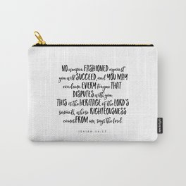 Isaiah 54:17 - Bible Verse Carry-All Pouch